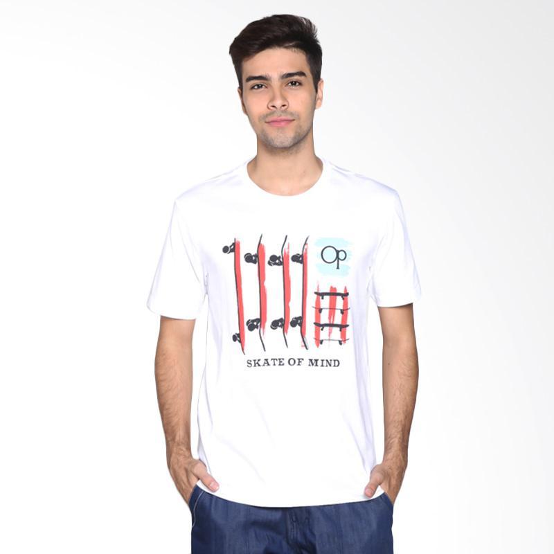 Ocean Pacific Fashion 03MTF92310 Mens T-Shirt - White