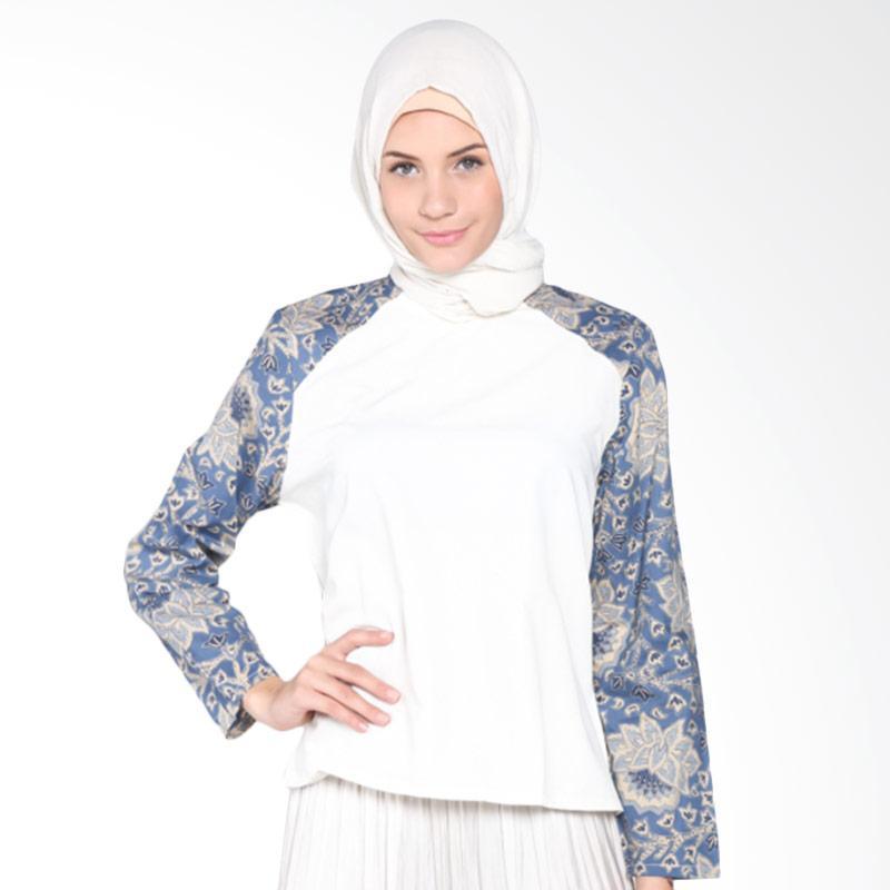 Rauza Rauza Batiq Top Atasan Muslim - Blue