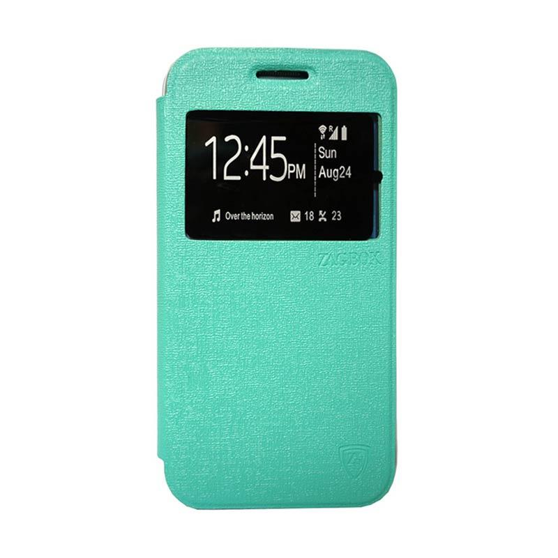 Zagbox Flip Cover Casing for Infinix Hot Note - Hijau Tosca