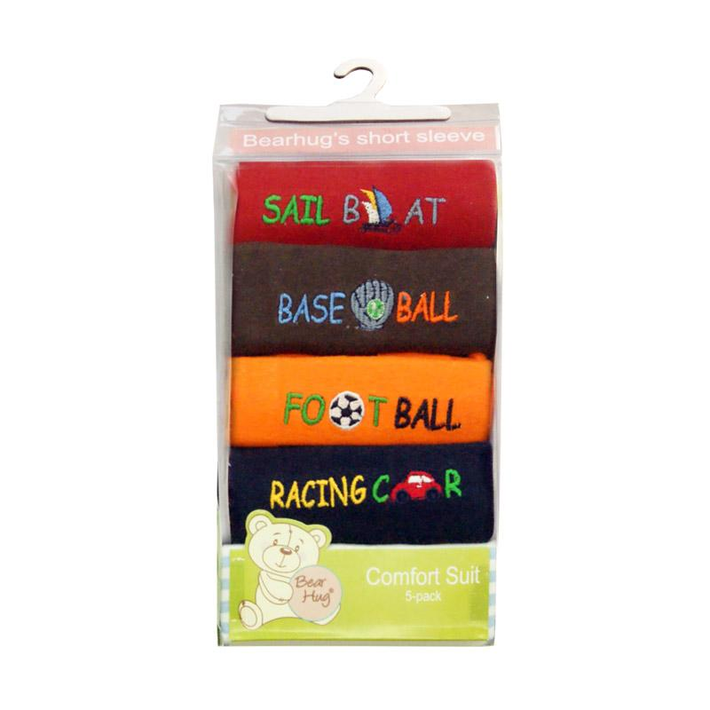 Bearhug 5-Piece Top For Baby Boy Kaos Anak - Multicolour [ 5 pcs ]