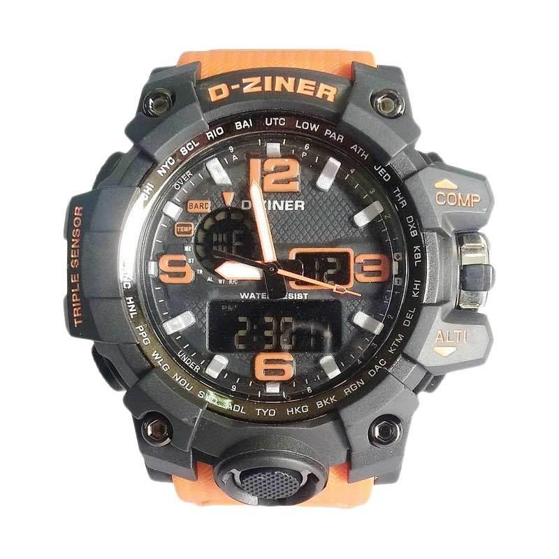 Digitec D-ziner DZ8119 Dualtime Jam Tangan Pria - Orange