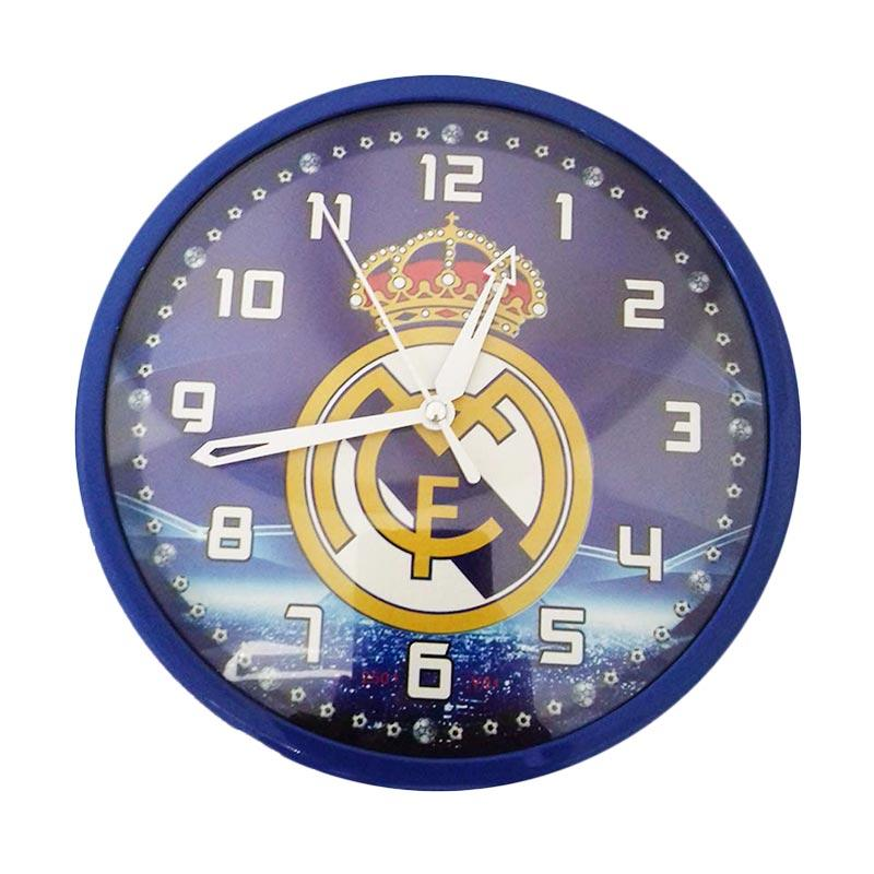 Miracle Club Bola Real Madrid Ring Jam Dinding - Biru [20 cm]