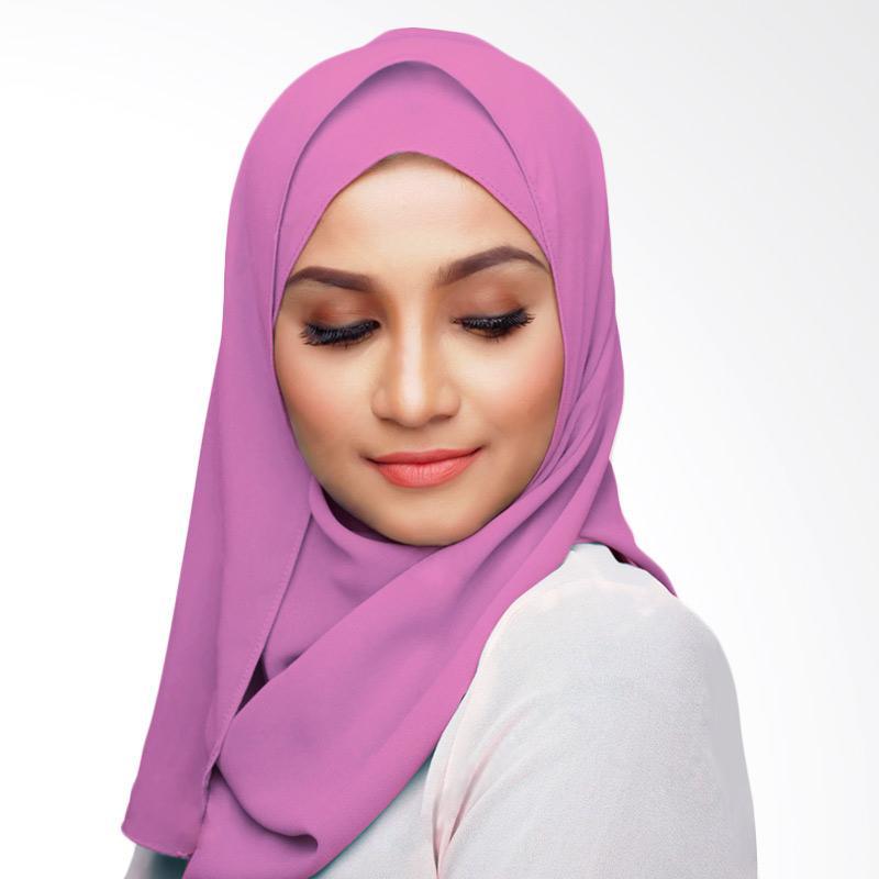 Aitana KD036 Hijab Kerudung Polos Segiempat - Pink Muda