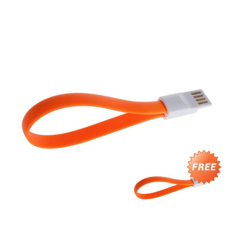Riva Magnet Kabel Charger Micro USB - Orange [20cm /Buy 1 Get 1]