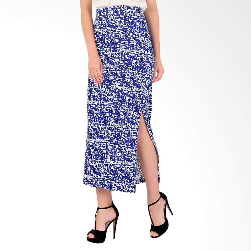 Bolzano Long Skirt - Blue Print