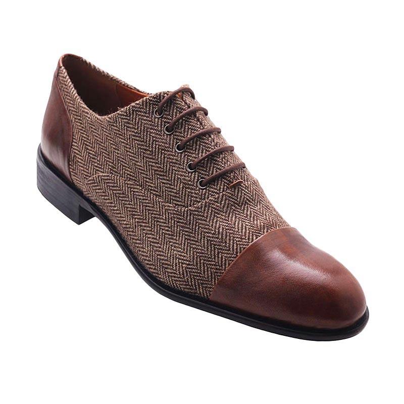 Ftale Footwear Kobe Mens Shoes Sepatu Pria - Herringbone Brown