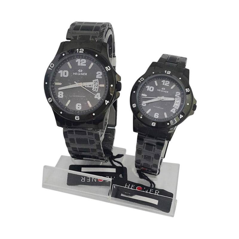 harga Hegner Analog Model Couple 600040 A Jam Tangan Original - Hitam Blibli.com