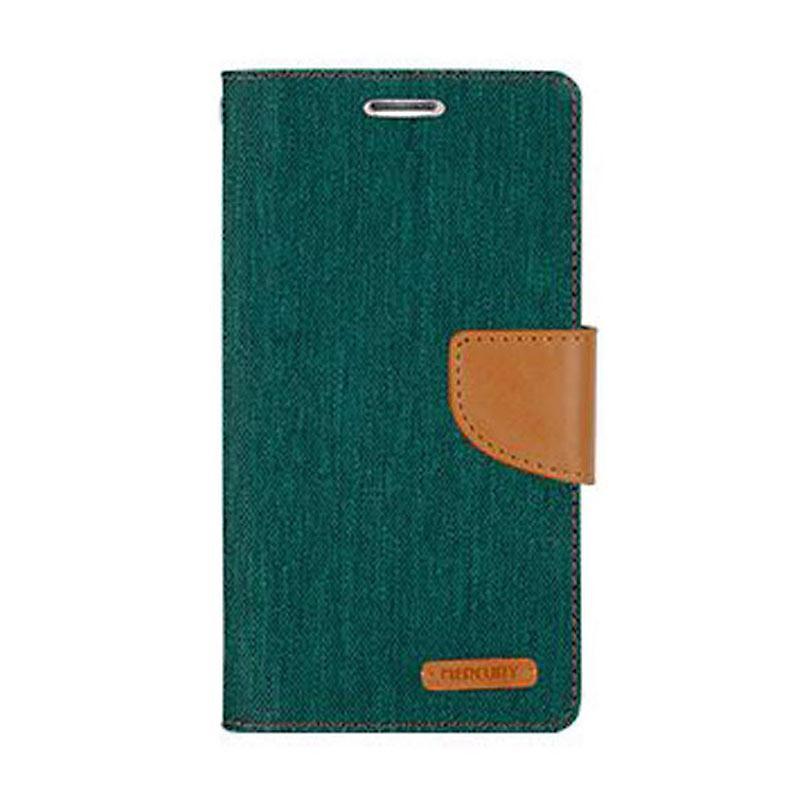 Mercury Canvas Diary Flip Cover Casing for LG K10 - Hijau