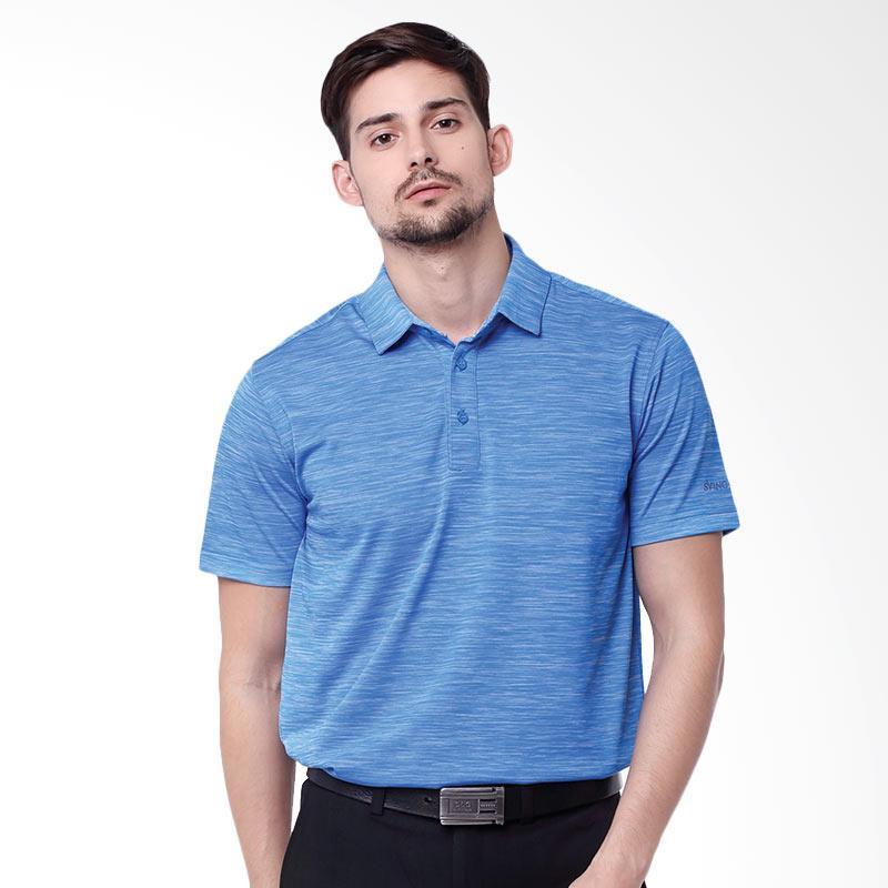 Svingolf Pure Polo Baju Golf - Flat Blue White