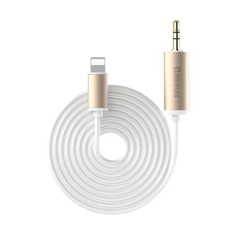 Baseus Enjoy Apple Transfer Male Audio Cable - Gold [2 M]