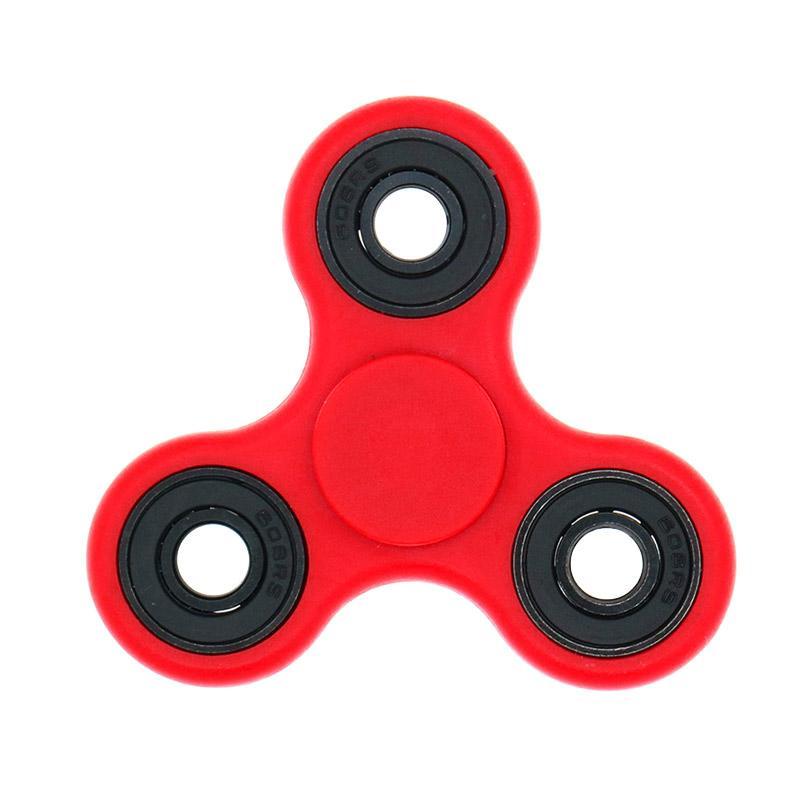 Fidget Hybrid Black Ceramic Bearing Spinner - Merah