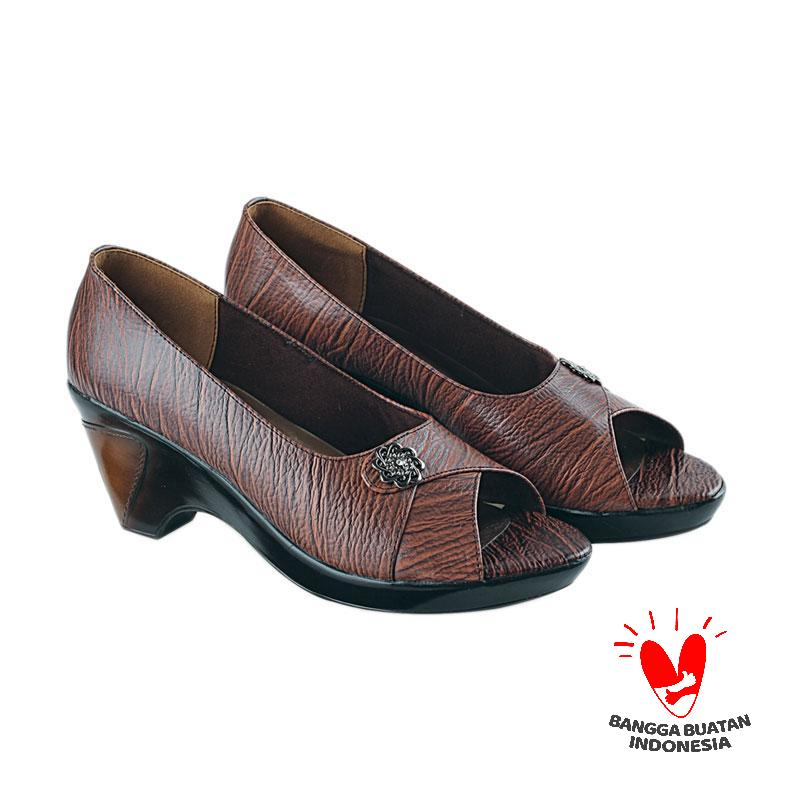 Blackkelly LDX 923 Azrelia Sepatu Formal - Dark Choco
