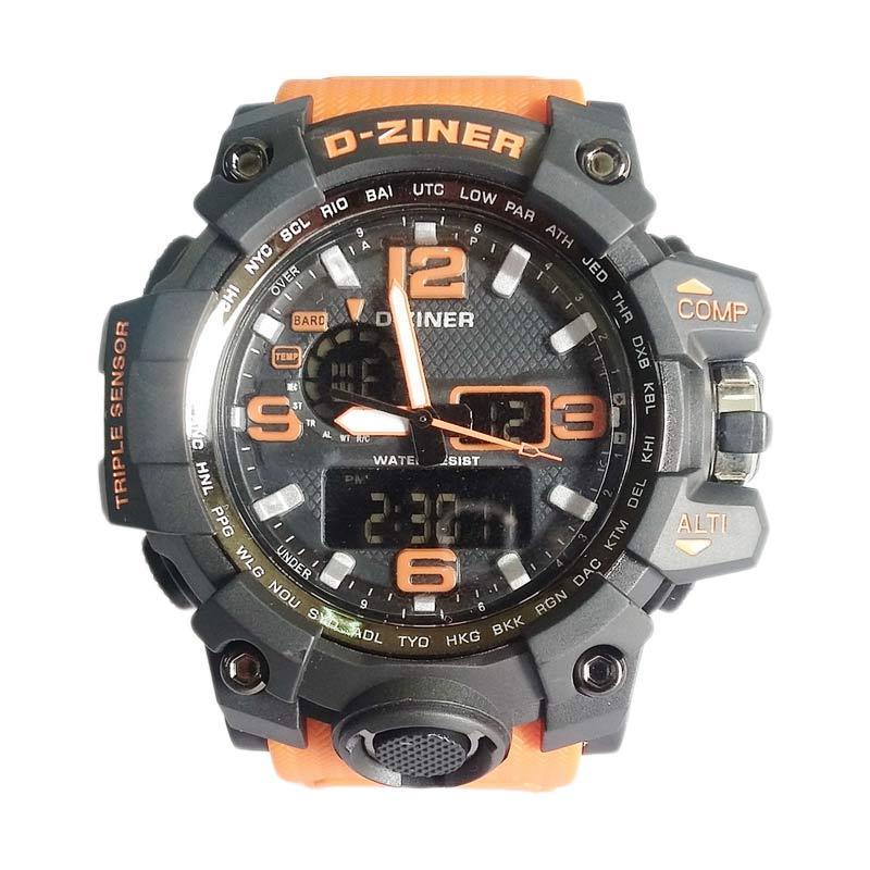 Digitec D-ziner DZ811419 Dualtime Jam Tangan Pria - Orange