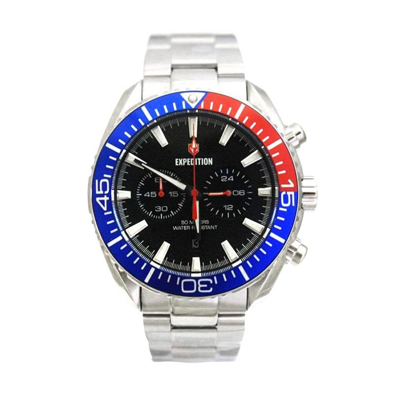 Expedition 6735 Jam Tangan Pria - Silver Blue Red