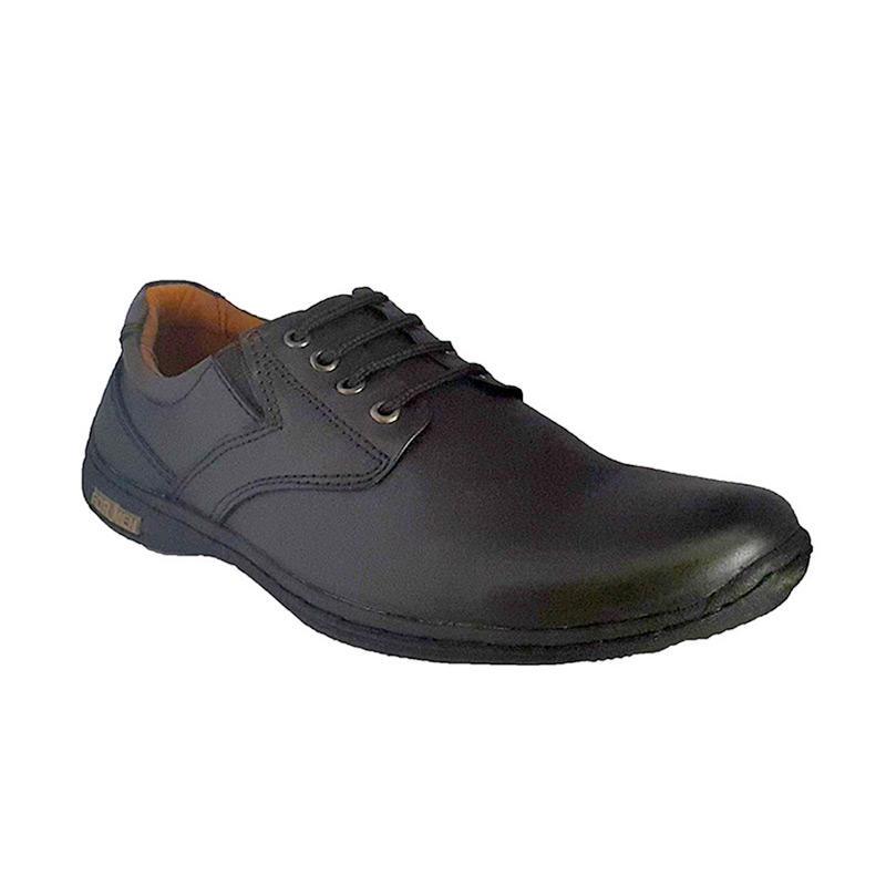 Formen MK 01 Kulit Dress Loafers Sepatu Pria - Black