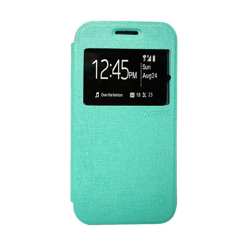 Zagbox Flip Cover Casing for Xiaomi Redmi Note 2 - Hijau Tosca