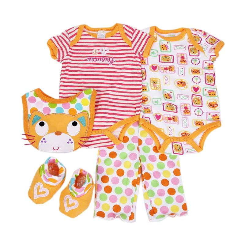 Chloebaby Shop F993 Cat Jumper - Orange [Set 5in1]
