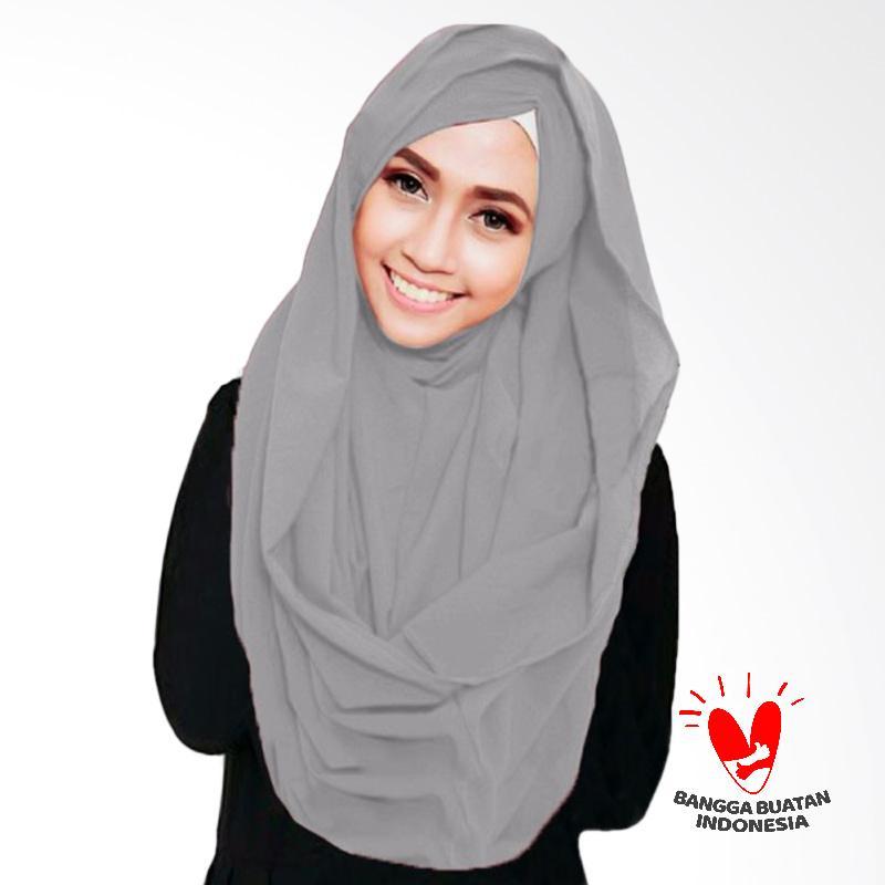 Milyarda Hijab Shiren Kerut Jilbab Instant - Grey