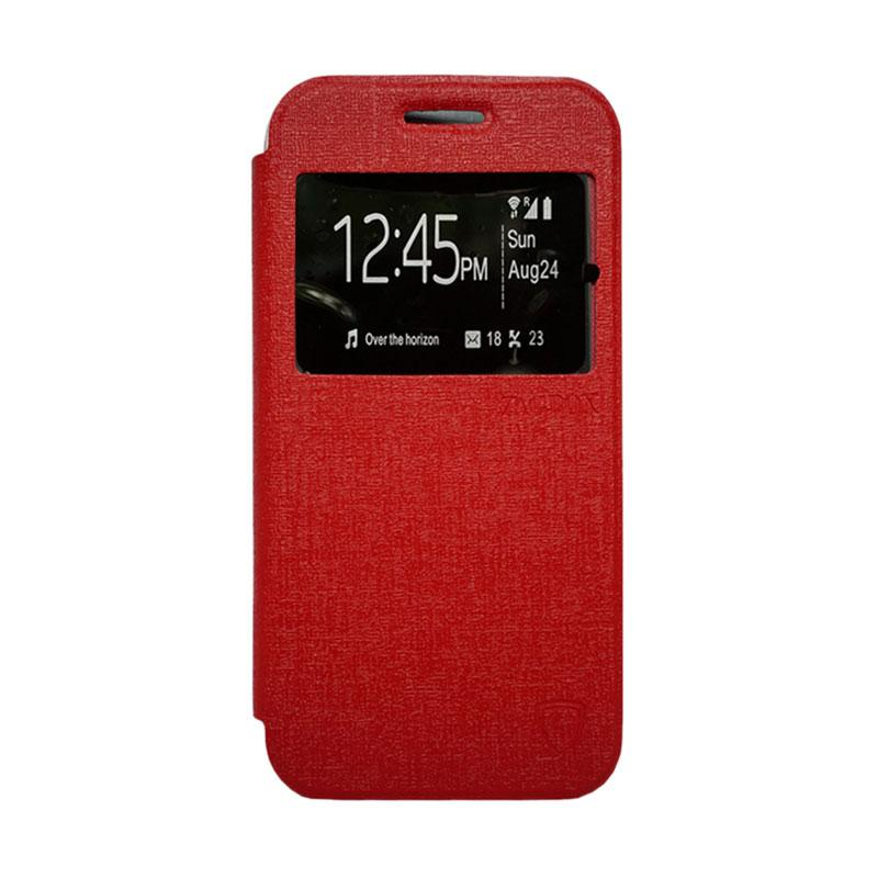 ZAGBOX Flip Cover Casing for Samsung Galaxy S7 Plus - Merah