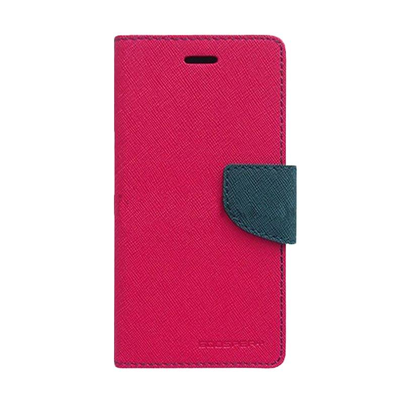 Mercury Fancy Diary Casing for iPhone 7 - Magenta Biru Laut