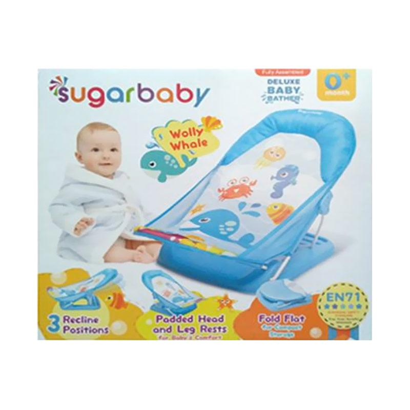 Sugar Baby Wolly Whale Deluxe Baby Bather - Blue