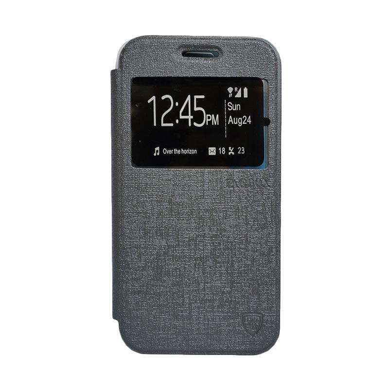 Zagbox Flip Cover Casing for Samsung Galaxy Grand i9082 - Abu-abu