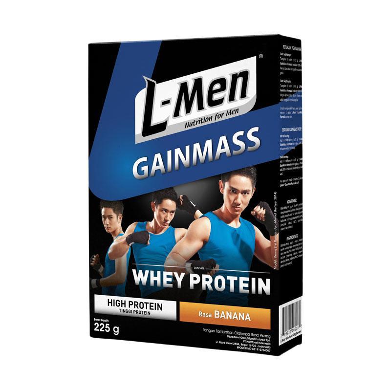 harga L-Men Gain Mass Banana Minuman Kesehatan [225 g] Blibli.com