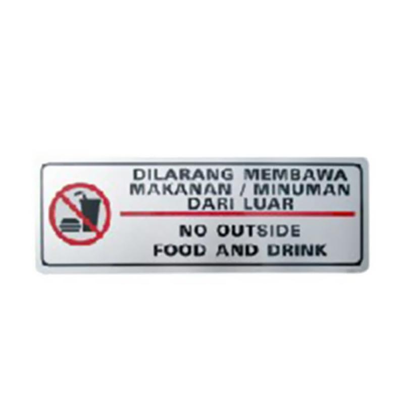 Jual Oem Mg 3c 20 Dilarang Membawa Makanan Dari Luar Signage Label