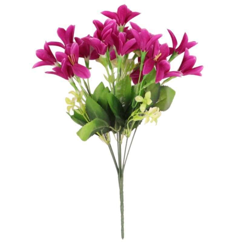 Jual Oem Various Artificial Flowers Lily Lilium Nanum Floral Table Decor Arrangement Online November 2020 Blibli Com