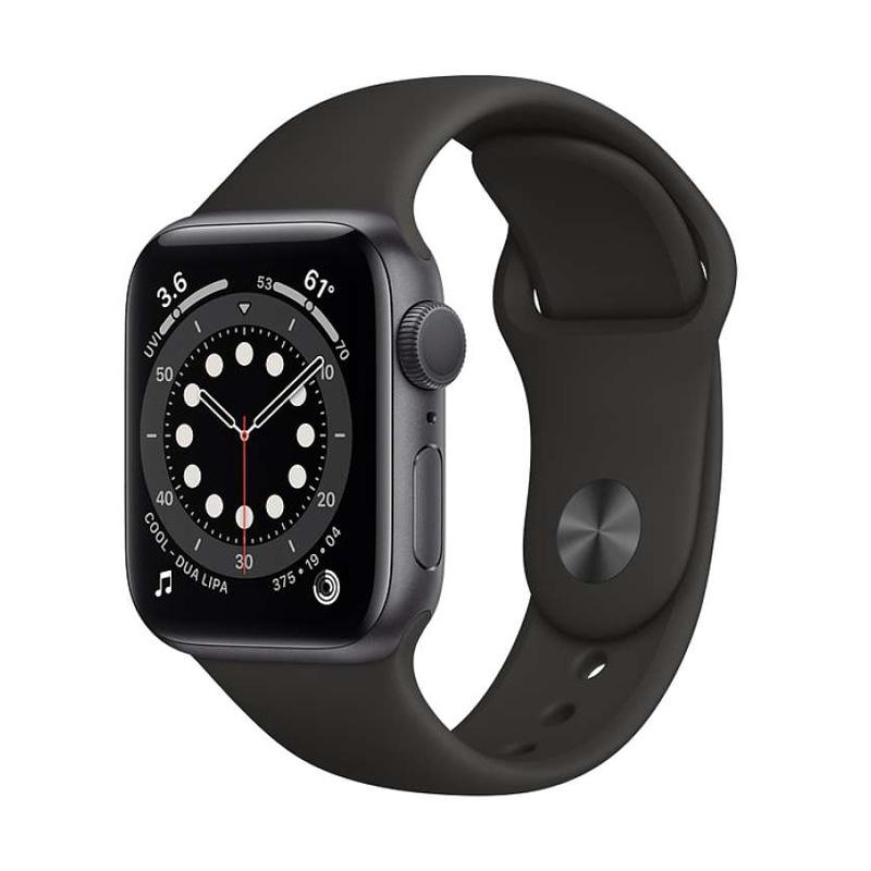Apple Watch Series 6 Space Gray Aluminum Case 40mm with Black Sport Band