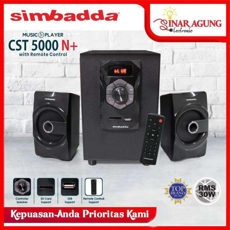 Jual Simbadda Speaker Bluetooth Cst 5000n Cst5000n With Remote Resmi Terbaru Juli 2021 Blibli