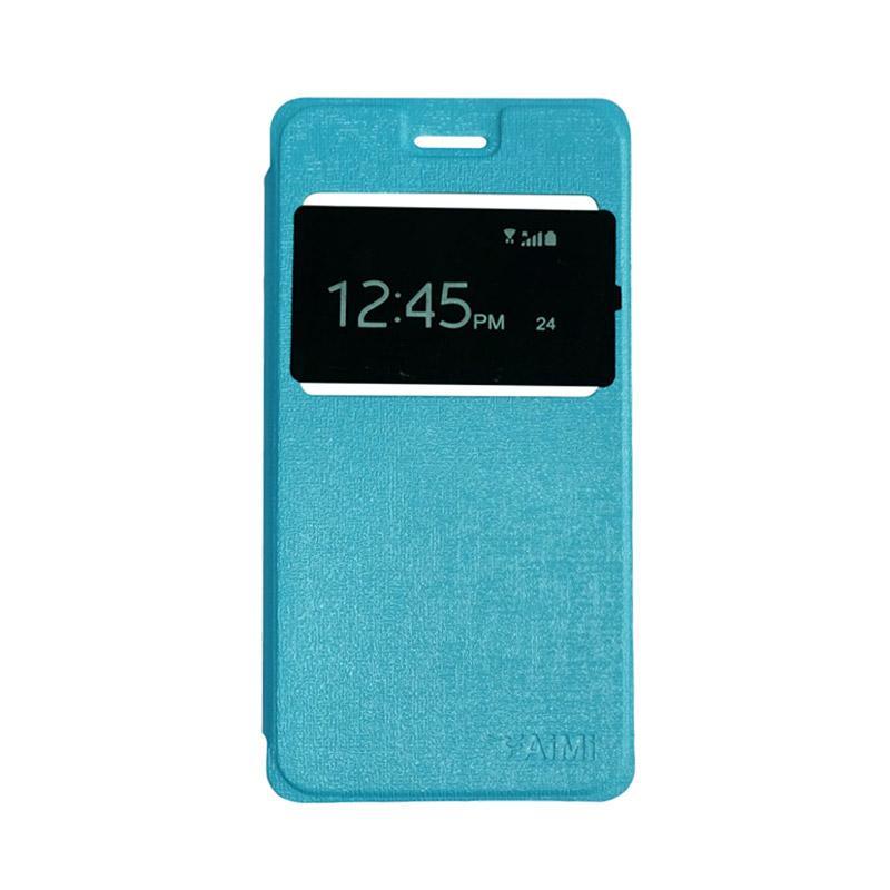 AIMI Flipshell Flip Cover Casing for Oppo A57 - Sky Blue