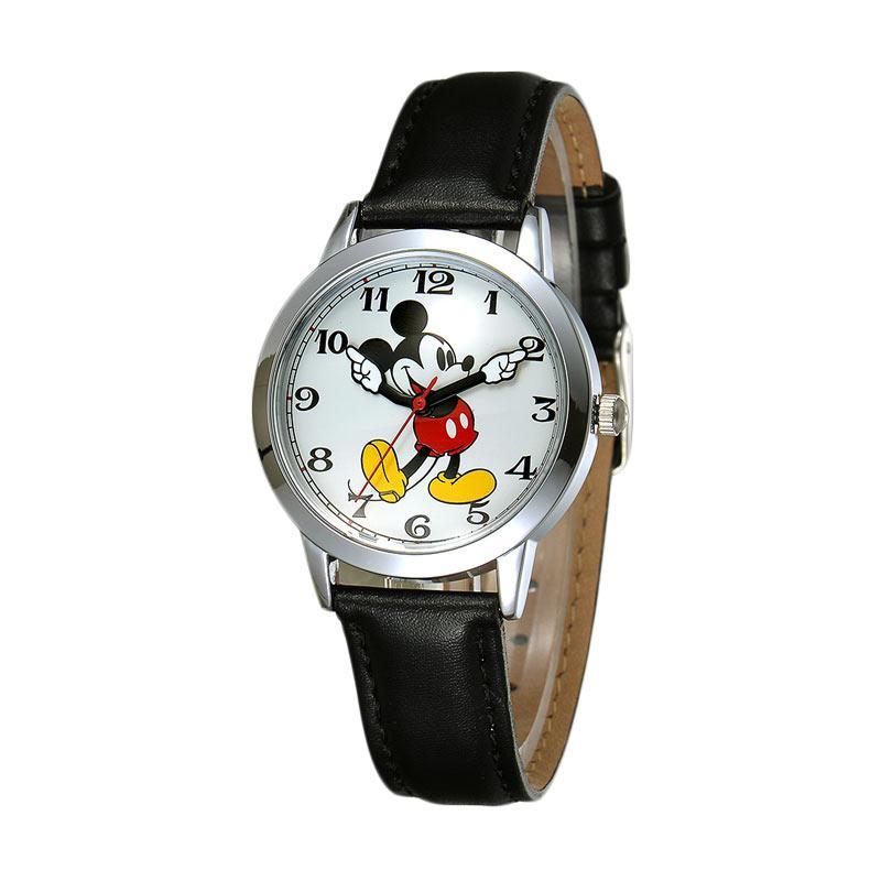 Disney MS11027-B Mickey Klasik Jam Tangan Wanita - Hitam
