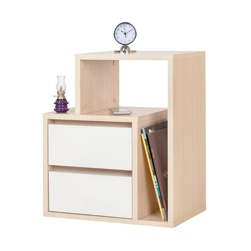 Ben Furniture Melamine Meja Nakas [47.5 x 30 x 55 cm]