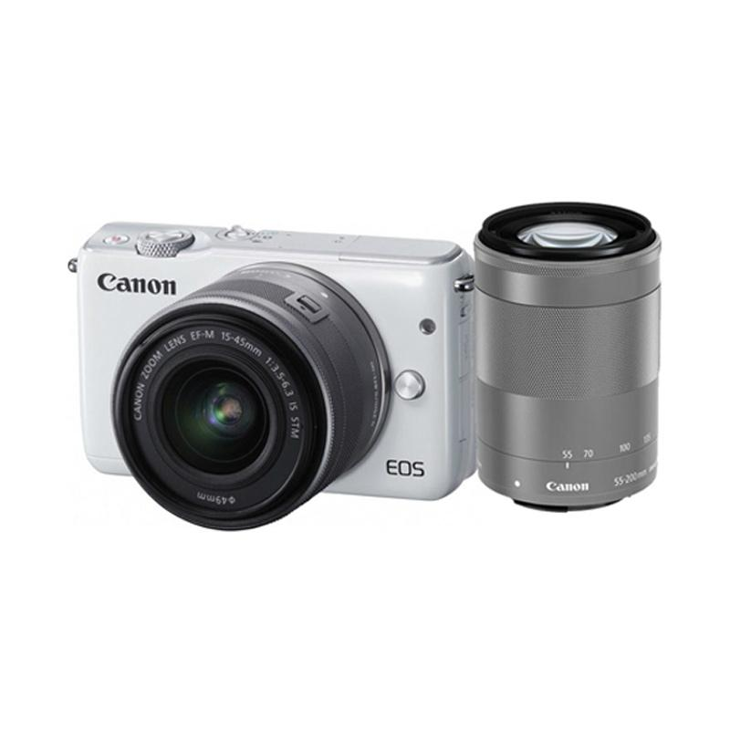 Canon EOS M10 KIT III EF-M15-45MM + EF-M55-200MM Kamera Mirrorless RESMI PT DATASCRIP