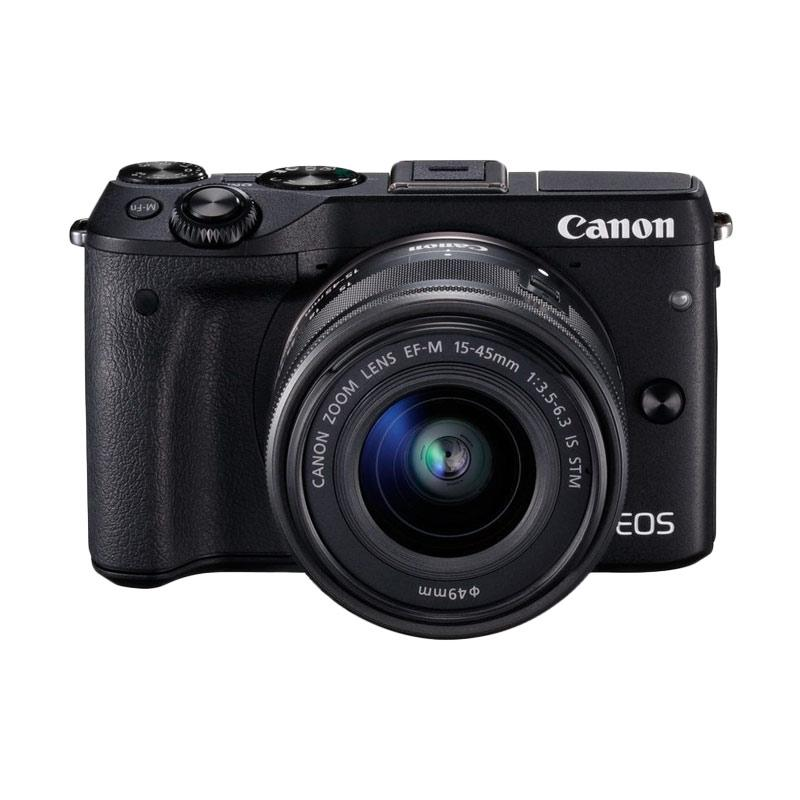 Canon EOS M 3 Kit 15-45 Black - 9312445 , 16440860 , 337_16440860 , 6875000 , Canon-EOS-M-3-Kit-15-45-Black-337_16440860 , blibli.com , Canon EOS M 3 Kit 15-45 Black