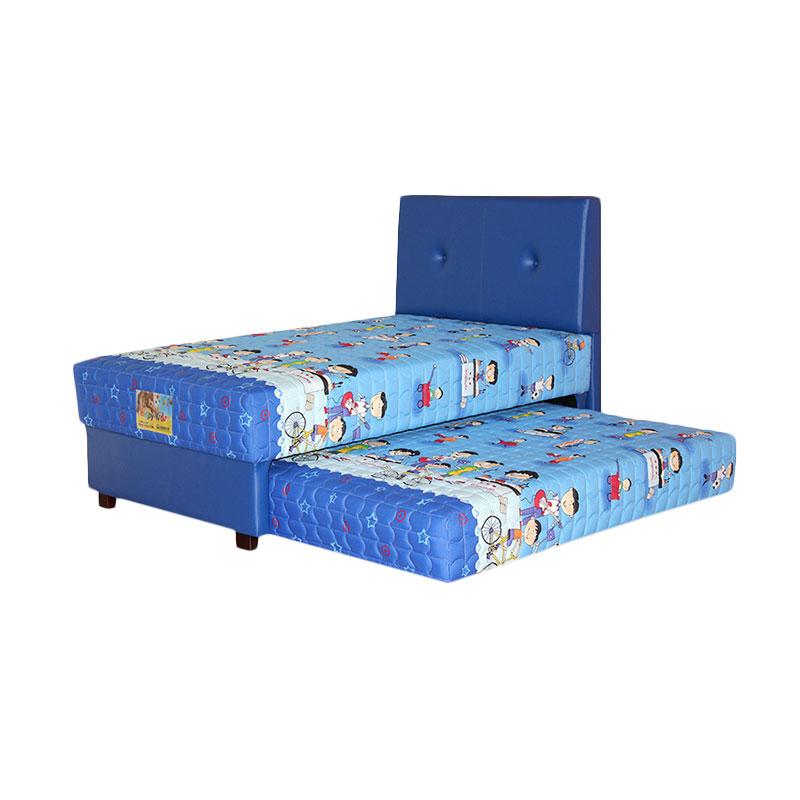 Guhdo Happy Kid 2in1 HB Bravo Full Set Springbed - Biru