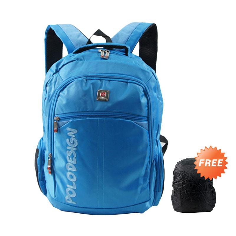Polo Design PX1-21001L Tas Ransel + Rain Cover - Blue