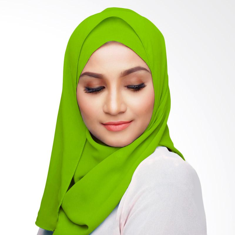 Aitana Hijab KD004 Kerudung Polos Segiempat - Hijau Muda 2