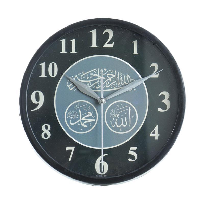 Miracle ISL25 Motif Kaligrafi Jam Dinding - Ring Black [20cm]
