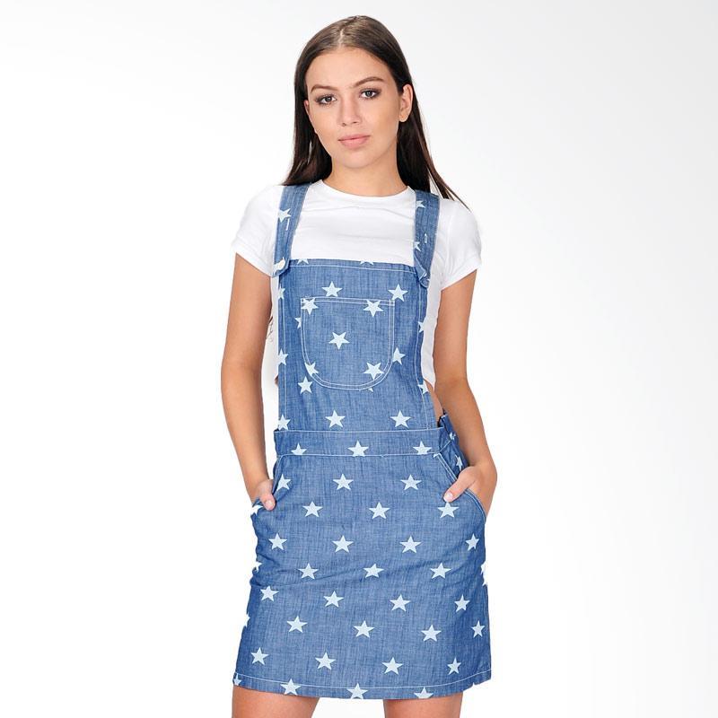 SJO & SIMPAPLY Dora Pocket Denim Women Playsuit - Blue