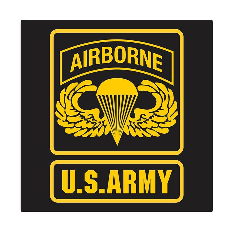Kyle US Army Airborne Parachute Wing Cutting Sticker