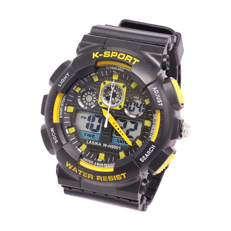 Lasika Digital Analog W-H 9001 Jam Tangan Unisex - Yellow