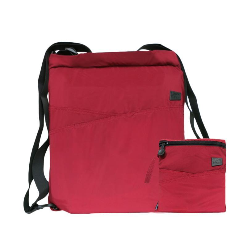 Lexon Play Folding Tote Backpack Tas Selempang - Red
