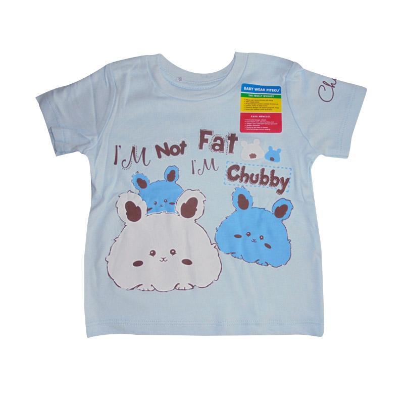 Piteku Motif Classic Chubby T-shirt - Biru