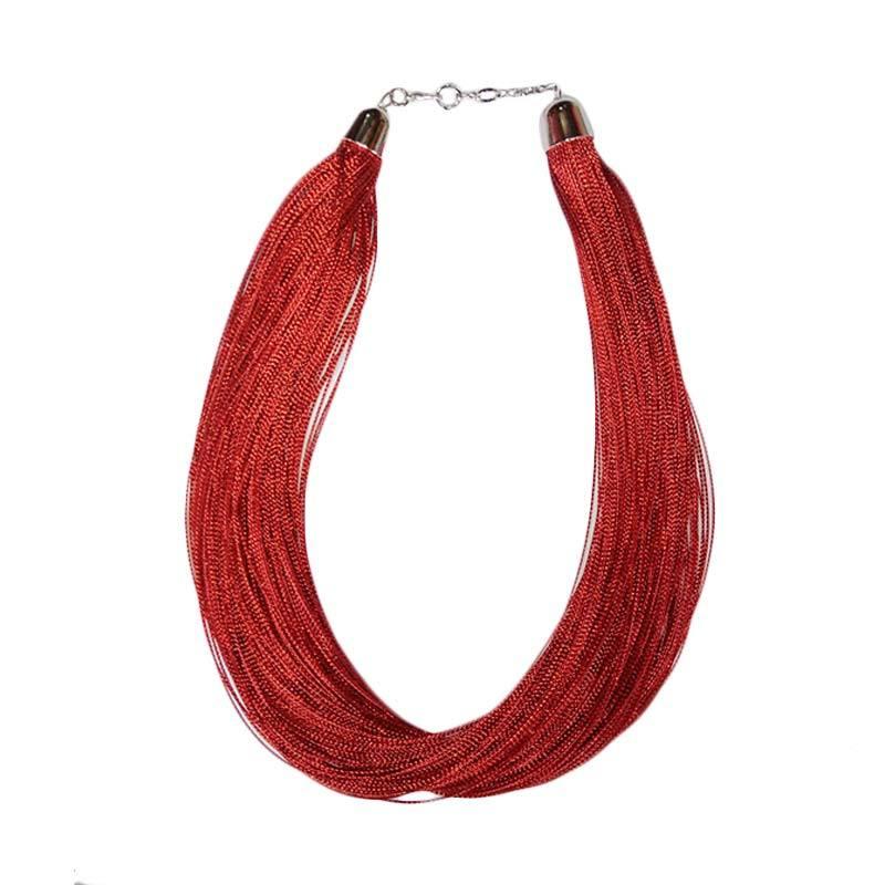 Tata Bali Shop 011 Glitter Kalung Fashion Wanita - Red