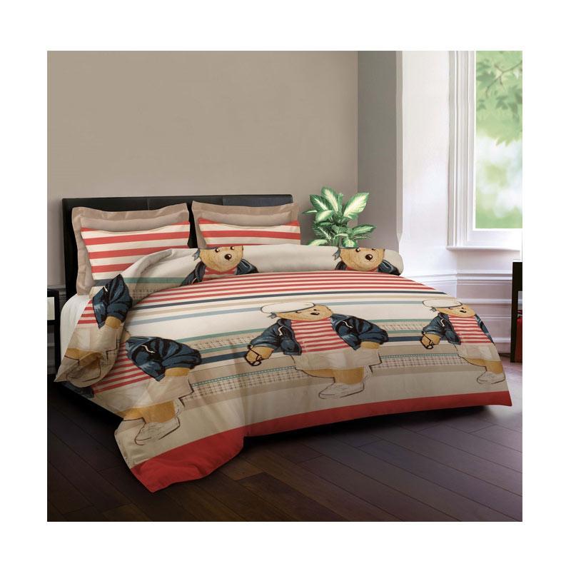harga King Rabbit Motif Orlando Mr Bean Bed Cover - Merah Blibli.com