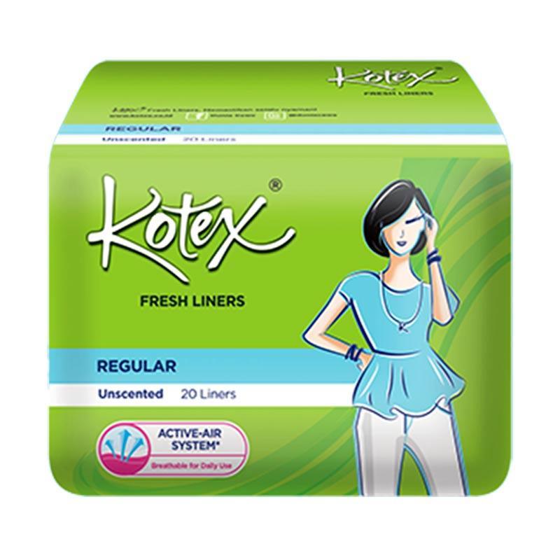 Kotex Fresh Liner Unscented Pantyliner [20 Pads]