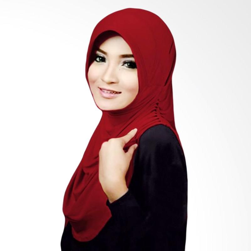 Milyarda Hijab Rumana Jilbab Instant - Maroon