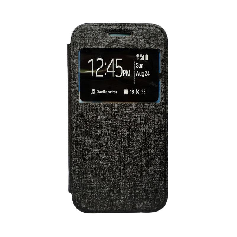 ZAGBOX Flip Cover Casing for Samsung Galaxy S7 Plus - Hitam